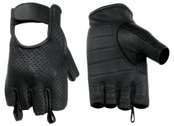 Wholesale Leather Gloves | DS14 Perforated Fingerless Glove