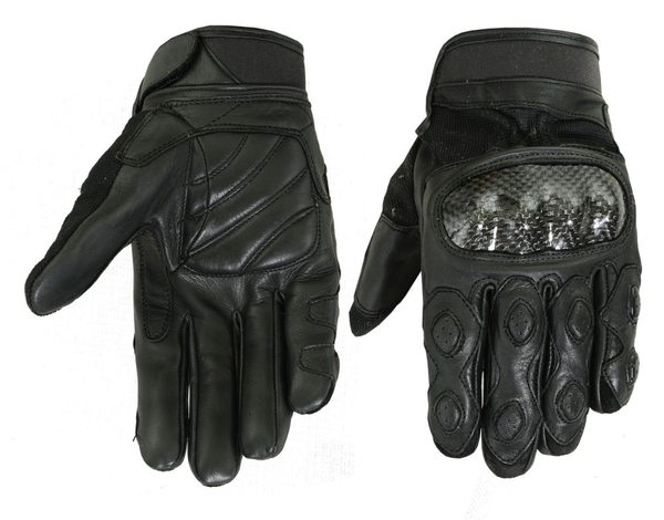 Wholesale Leather Gloves | DS55BK Leather/ Textile Sporty Glove