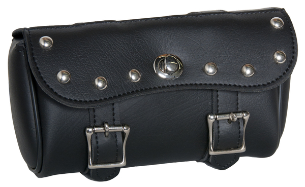 Wholesale Leather Tool Bags | DS5602S Two Strap Tool Bag w/ Studs