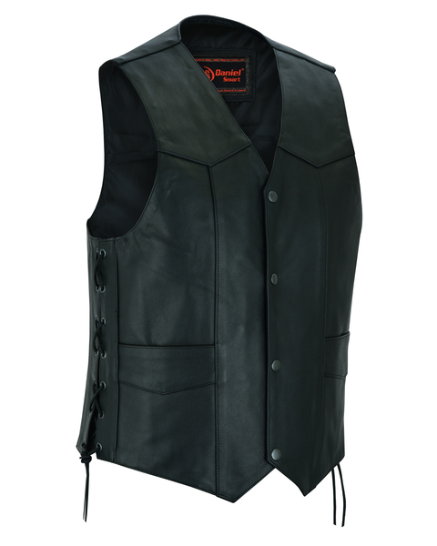 Men's Traditional Concealed Carry  Biker Vest   Lace Detail