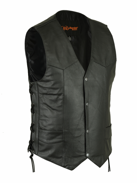 Men's Traditional Concealed Carry  Biker Vest | Lace Detail