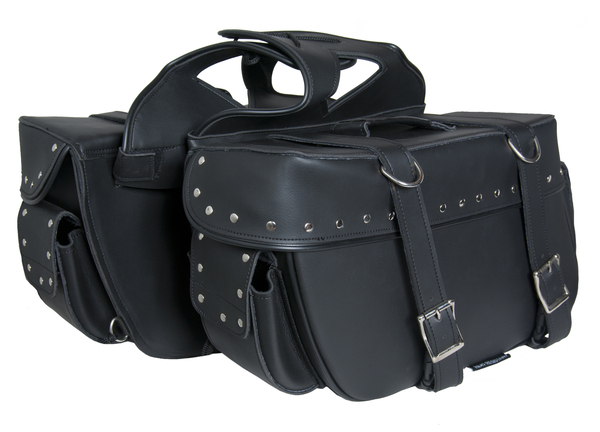 Wholesale Saddle Bags | DS321S Two Strap Saddle Bag w/ Studs