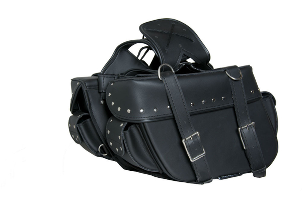 Wholesale Saddle Bags | DS312S Two Strap Saddle Bag w/ Studs