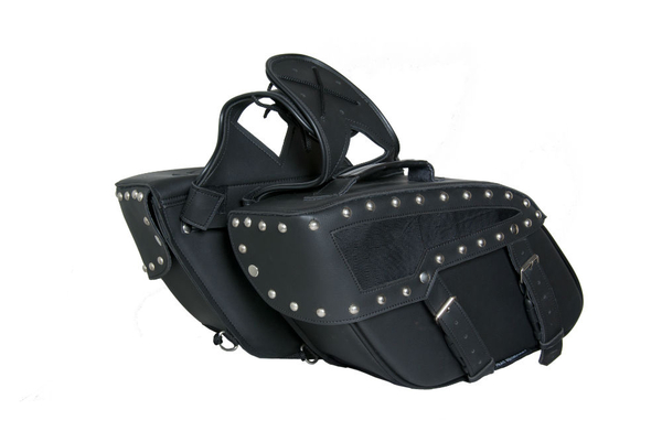 Wholesale Saddle Bags | DS313S Two Strap Saddle Bag w/ Studs