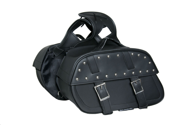Wholesale Saddle Bags | DS342S Two Strap Saddle Bag w/ Studs