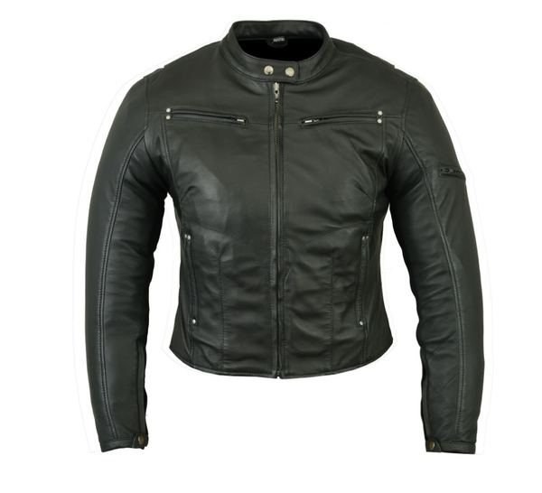 DS842 Women's Lightweight Drum Dyed Naked Lambskin Jacket | Close Outs