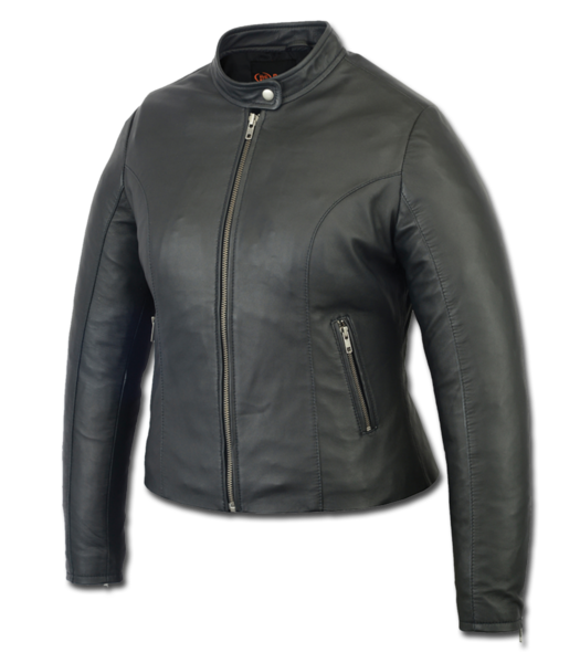 Wholesale Leather Women's Jackets | DS801 Women's Sporty Scooter Jacket