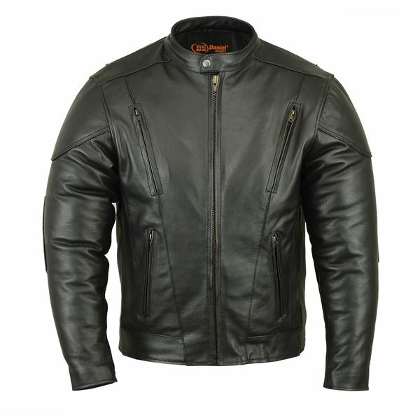 Wholesale Men's Motorcycle Jackets | DS776 Men's Vented M/C Jacket w/ Plain Sides