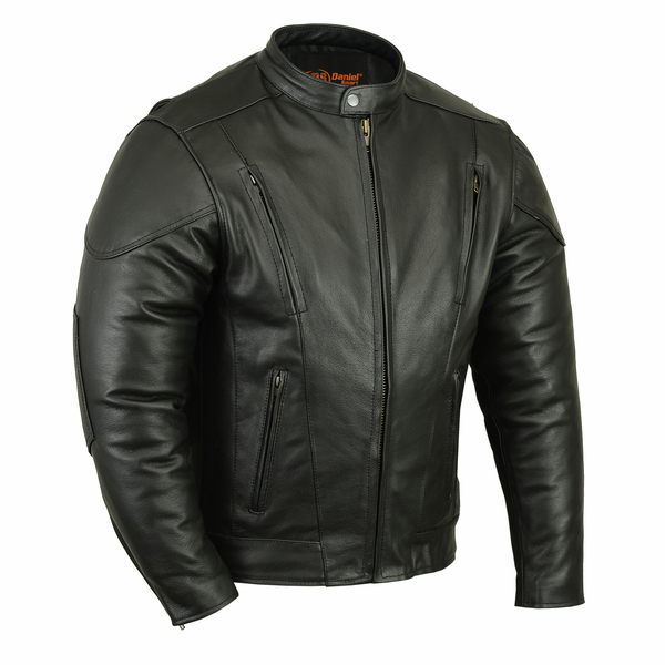 Wholesale Men's Motorcycle Jackets | DS776 Men's Vented M/C Jacket w/ Plain Sides