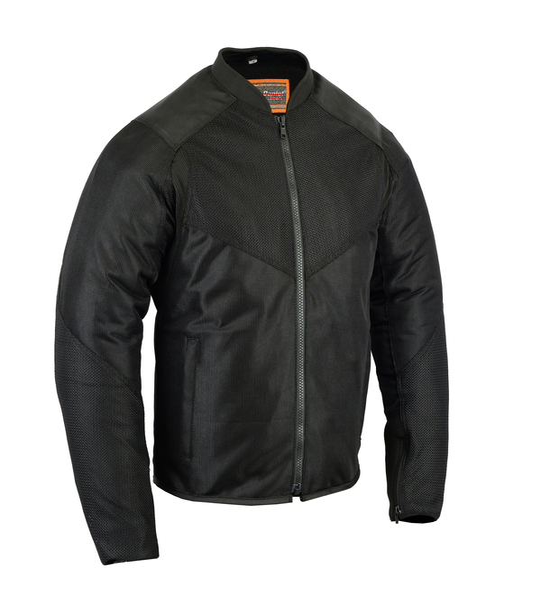 Wholesale Men's Motorcycle Jackets   DS776 Men's Vented M/C Jacket w/ Plain Sides