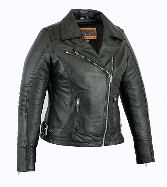 DS835 Women's Updated Lightweight Stylish M/C Jacket | Women's Leather Jackets