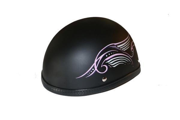 H31PK Novelty Eagle Pink Tribal Wings/Flat Black- Non-DOT | Eagle Novelty