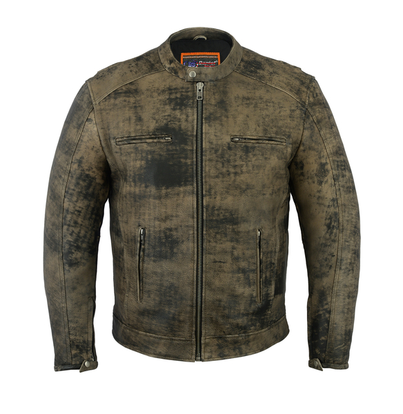 DS736 Men's Antique Brown Cruiser Jacket | Men's Jackets