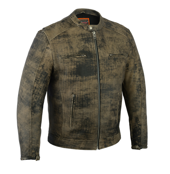 DS736 Men's Antique Brown Cruiser Jacket | Men's Leather Jackets