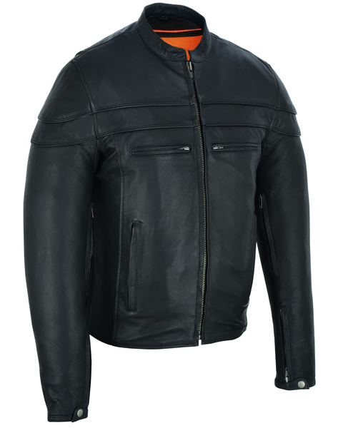 DS701TALL Men's Sporty Scooter Jacket - TALL | Men's Leather Jackets