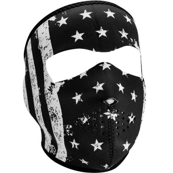 WNFM091 ZAN® Full Mask- Neoprene- Black and White Vintage Flag | Full Facemasks
