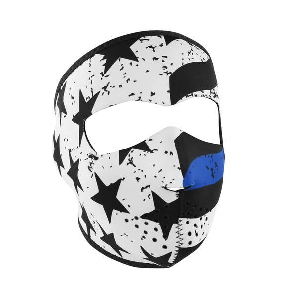 WNFM119 ZAN® Full Mask- Neoprene- Thin Blue Line | Full Facemasks