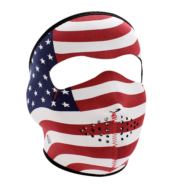 WNFM003 ZAN® Full Mask- Neoprene- Stars and Stripes | Full Facemasks