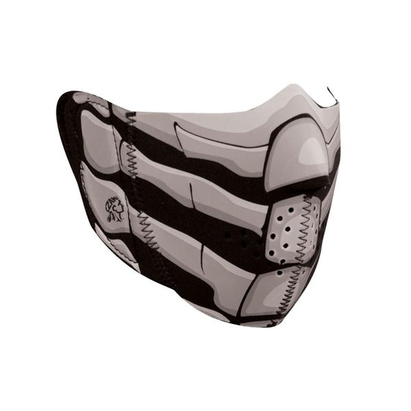 WNFM168HG ZAN® Half Mask- Neoprene- Bone Breath- Glow in the Dark | Half Facemasks