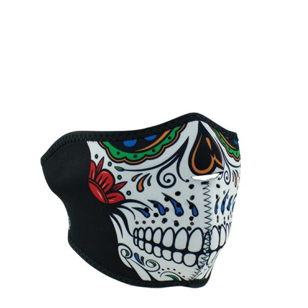 WNFM413H ZAN® Half Mask- Neoprene- Muerte Skull | Half Facemasks