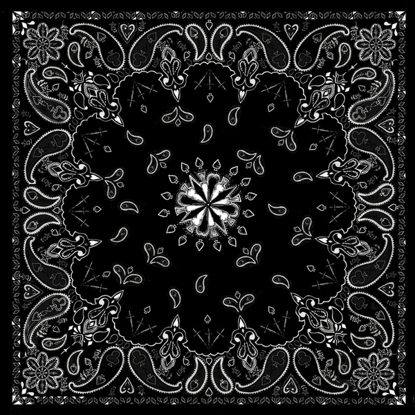 B001- Bandanna Black Paisley | Bandanas