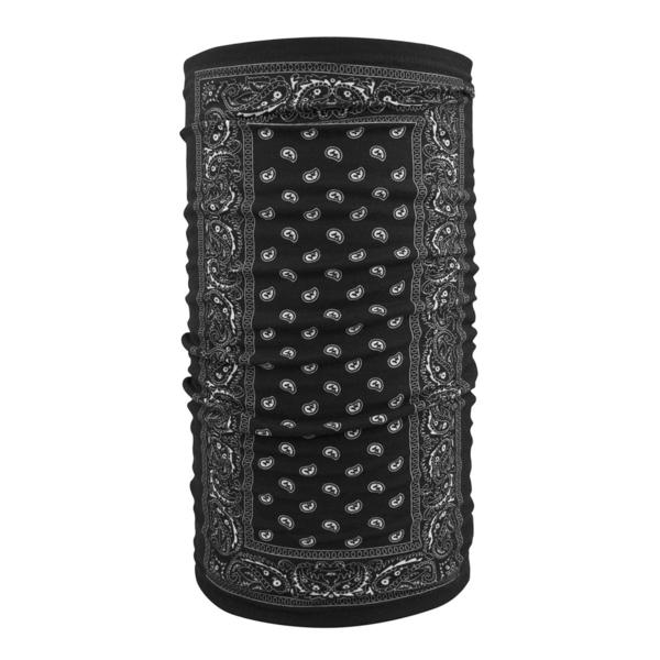 TF101 Motley Tube® Fleece Lined- Black Paisley | Head/Neck/Sleeve Gear