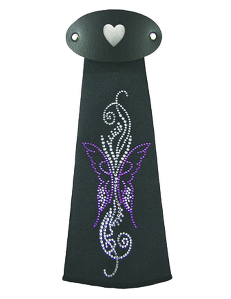 J759IJ2 Purple Butterfly Hairtube   Hairtubes