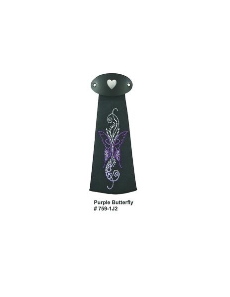 J759IJ2 Purple Butterfly Hairtube | Hairtubes