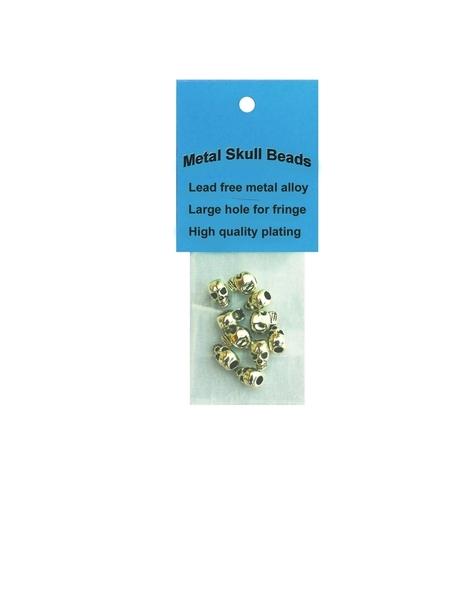 J331 Chrome Metal Skull Beads- 10 per Pack | Spikes/ Beads