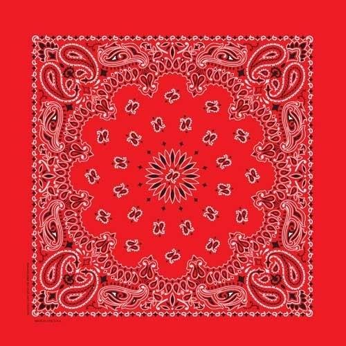 BD2500 Bandana Paisley Red | Bandanas