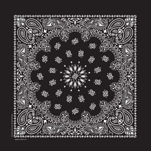 BD2503 Bandana Paisley Black | Bandanas