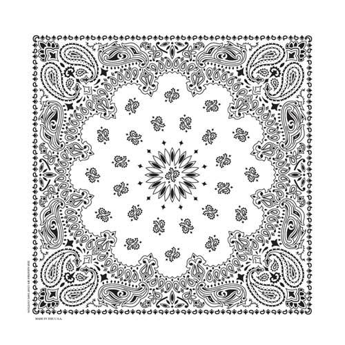 BD2504 Bandana Paisley White | Bandanas