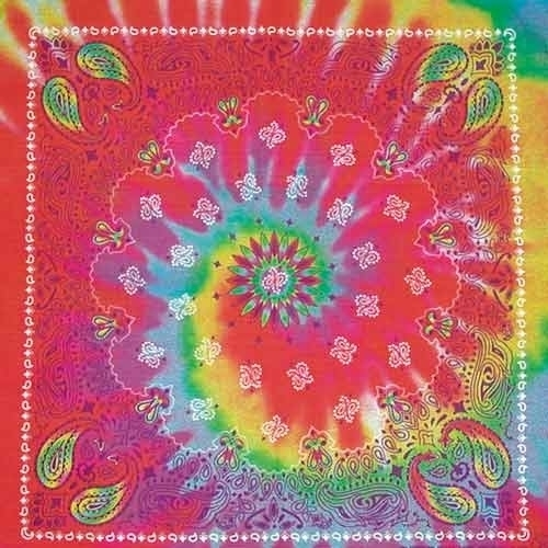 BD2509 Bandana Paisley Tie Dye | Bandanas
