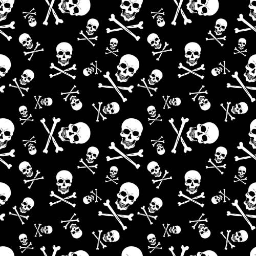 BD2512 Bandana Skull and Crossbones | Bandanas