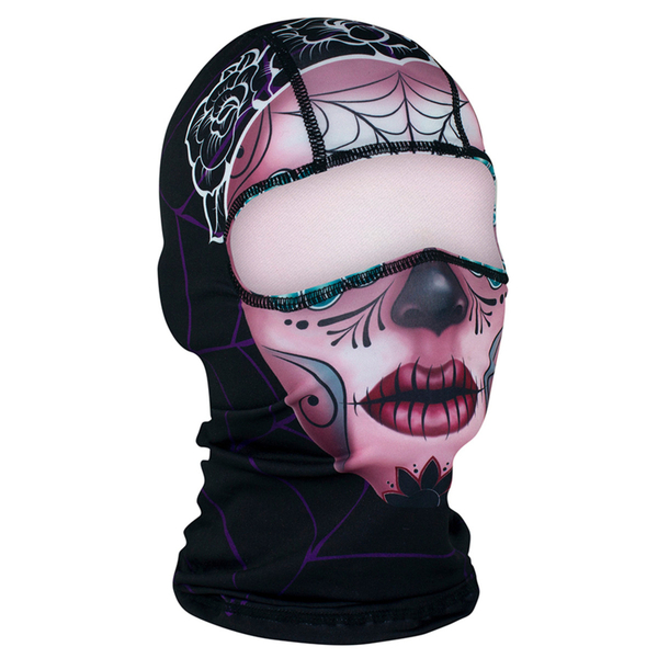 WBP082 Balaclava Polyester- Sugar Skull | Head/Neck/Sleeve Gear