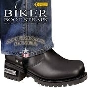BBS/AB6 Weather Proof- Boot Straps- American Biker- 6 Inch | Biker Boot Straps