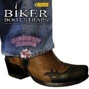 BBS/DR4 Weather Proof- Boot Straps- Desert Rose- 4 Inch | Biker Boot Straps