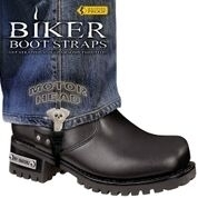 BBS/MH6 Weather Proof- Boot Straps- Motor Head- 6 Inch | Biker Boot Straps