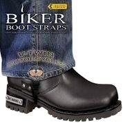 BBS/VT6 Weather Proof- Boot Straps- V-Twin- 6 Inch | Biker Boot Straps