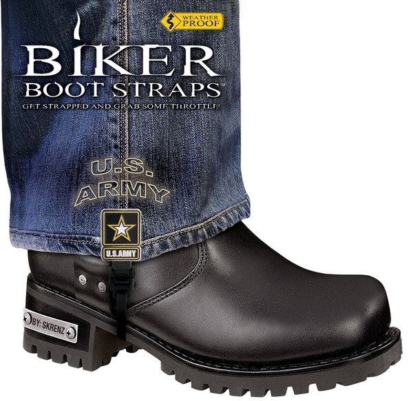 BBS/UA6 Weather Proof- Boot Straps- US Army- 6 Inch | Biker Boot Straps