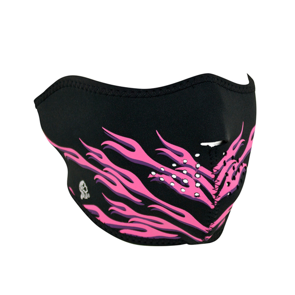 WNFM054H ZAN® Half Mask- Neoprene- Pink Flames | Half Facemasks