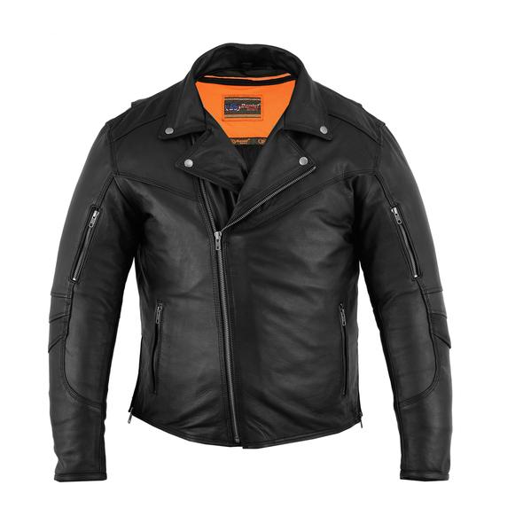 DS794 Men's Modern Longer Beltless Biker Jacket | Men's Jackets