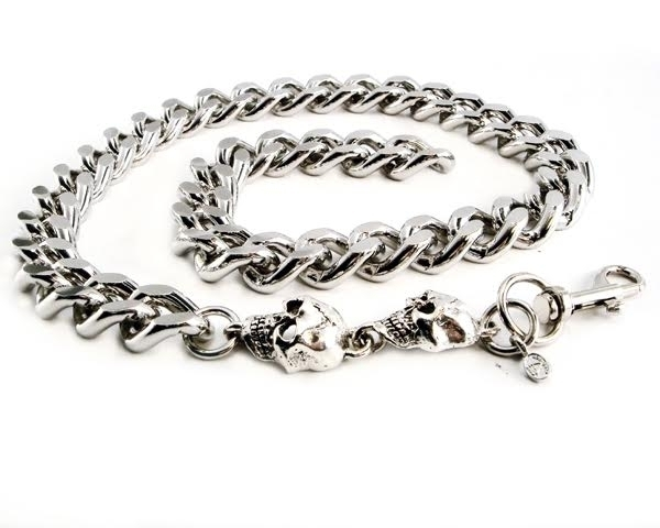 CH33SKXL-22 Monster Leash Necklace with Skull 22