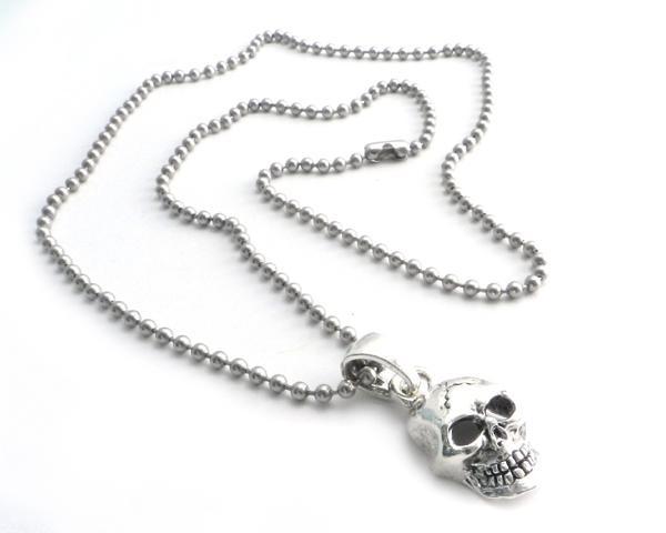 NSBC-SKXL Skull Pendant on Stainless Steel 30