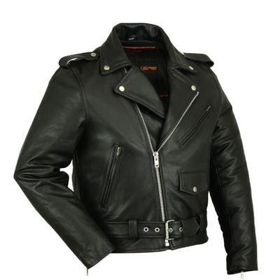 Image DS720 Men's Classic Plain Side Police Style M/C Jacket