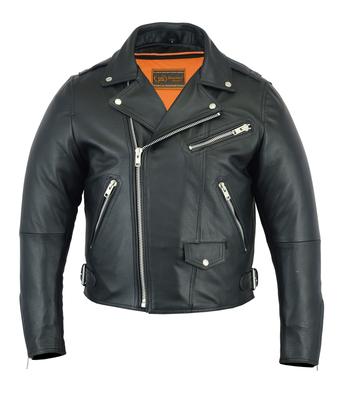 DS737 Men's Modern Full Cut Beltless Biker Jacket
