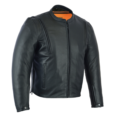 Image DS772 Men's Modern Vented M/C Jacket