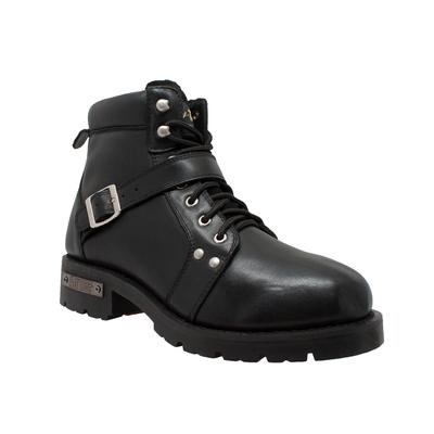 Image 9143 Men's YKK Zipper Biker Boot-Black