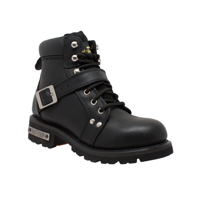 Image 8143 Women's YKK Zipper Black Biker Boot