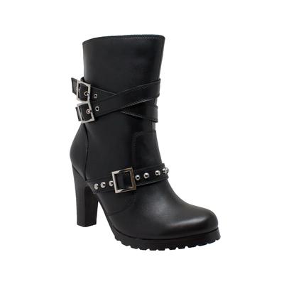 8545 Women's 3-Buckle Boot with Heel
